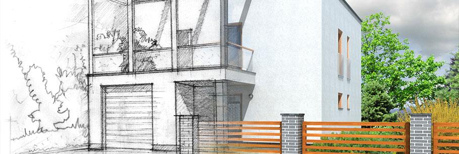 Kern immobilien startseite - Architektur skizze ...